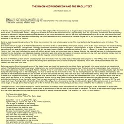 The Simon Necronomicon and Mesopoatmia - www.GatewaysToBabylon.com