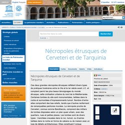 Nécropoles étrusques de Cerveteri et de Tarquinia