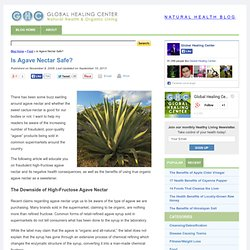 Is Agave Nectar Safe?