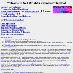 Ned Wright's Cosmology Tutorial