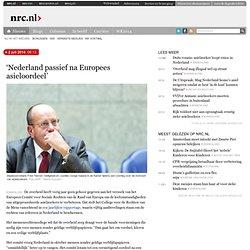 'Nederland passief na Europees asieloordeel'