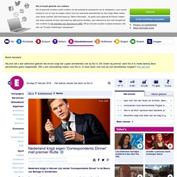 Nederland krijgt eigen 'Correspondents Dinner' met premier Rutte