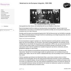 Nederland en de Europese integratie, 1950-1986