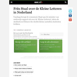 1991 Frits Staal over de Kleine Letteren in Nederland