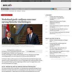 Nederland geeft 1 miljoen euro voor opvang Syrische vluchtelingen