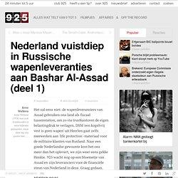 1) Nederland vuistdiep in Russische wapenleveranties aan Bashar Al-Assad (deel 1)