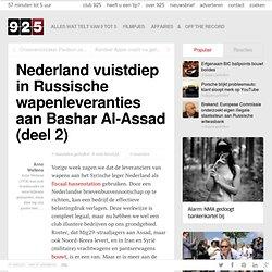2) Nederland vuistdiep in Russische wapenleveranties aan Bashar Al-Assad (deel 2)