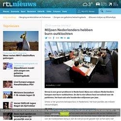 Miljoen Nederlanders hebben burn-outklachten