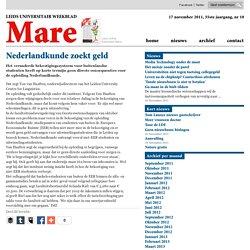 Nederlandkunde zoekt geld 2011/11/16
