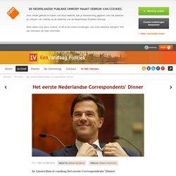 Het eerste Nederlandse Correspondents' Dinner commentaar Andrew Moskos