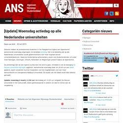 [Update] Woensdag actiedag op alle Nederlandse universiteiten