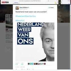 """Geert Wilders on Twitter: """"Nederland moet weer van ons worden! #NederlandWeerVanOns #StemPVV"""