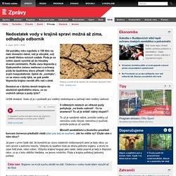 Nedostatek vody v krajině spraví možná až zima, odhaduje odborník