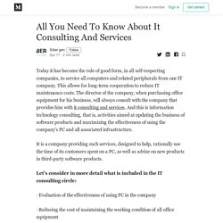 All You Need To Know About It Consulting And Services