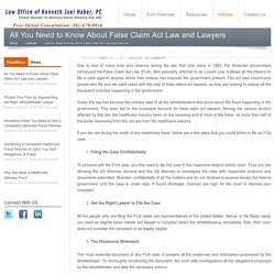 All You Need to Know About False Claim Act Law and Lawyers