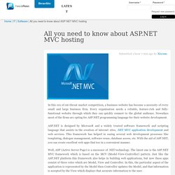 All you need to know about ASP.NET MVC hosting