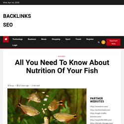 All You Need To Know About Nutrition Of Your Fish