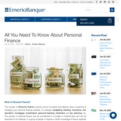 All You Need To Know About Personal Finance