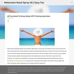 All You Need To Know About MT2 Tanning Injections