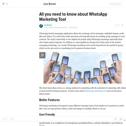 All you need to know about WhatsApp Marketing Tool