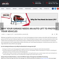 Why Do You Need an Auto Lift to Keep Your Vehicle Safe