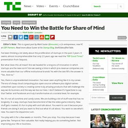 You Need to Win the Battle for Share of Mind