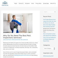 Why Do You Need The Best Pest Inspections Services?