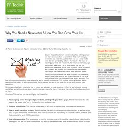 Why You Need a Newsletter and How You Can Grow Your List (Infographic)