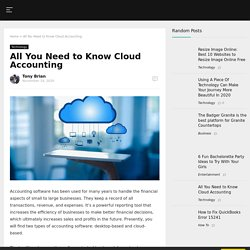 All You Need to Know Cloud Accounting