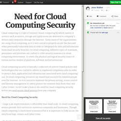 Need for Cloud Computing Security