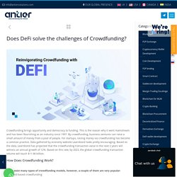 Need for a Defi Crowdfunding Platform in 2021