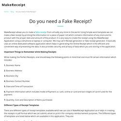 Do you need a Fake Receipt?