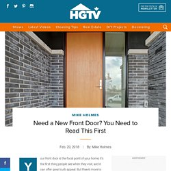 Need a New Front Door? You Need to Read This First
