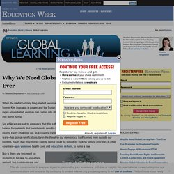 Why We Need Global Learning More Than Ever - Global Learning