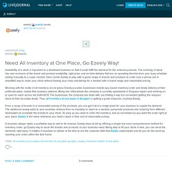 Need All Inventory at One Place, Go Ezeely Way!: ezeely