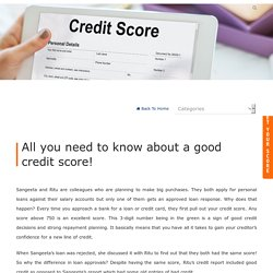 All you need to know about a good credit score!