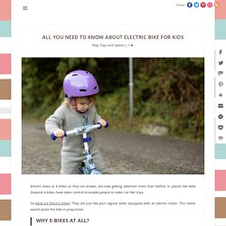 All You Need To Know About Electric Bike For Kids