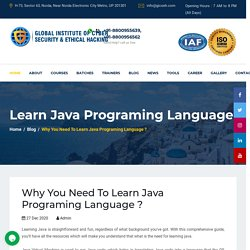 Why You Need To Learn Java Programing Language ?