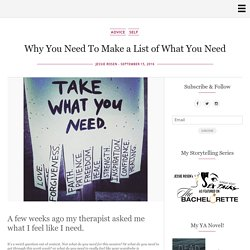 Why You Need To Make a List of What You Need - 20-Nothings