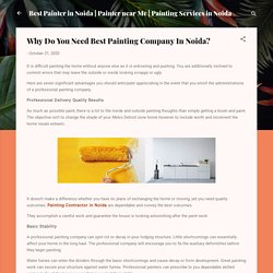 Why Do You Need Best Painting Company In Noida?