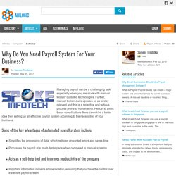 Why Do You Need Payroll System For Your Business?