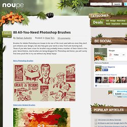 80 All-You-Need Photoshop Brushes - Noupe Design Blog - StumbleUpon