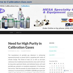 Need for High Purity in Calibration Gases