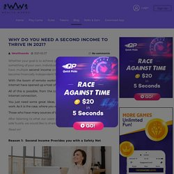 Why do You Need a Second Income to Thrive in 2021