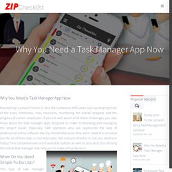 Why YOU Need a Task Manager App Now - Zip Checklist