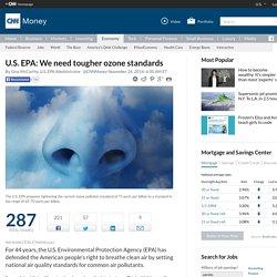 U.S. EPA: We need tougher ozone standards - Nov. 26, 2014