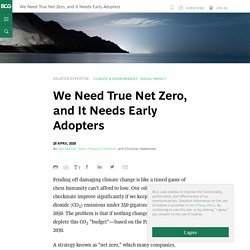 We Need True Net Zero, and It Needs Early Adopters