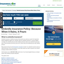 Do I Need an Umbrella Policy? Insurance.com