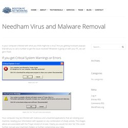 Malware Removal Services