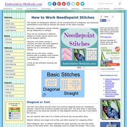 Needlepoint Stitches and Instructions